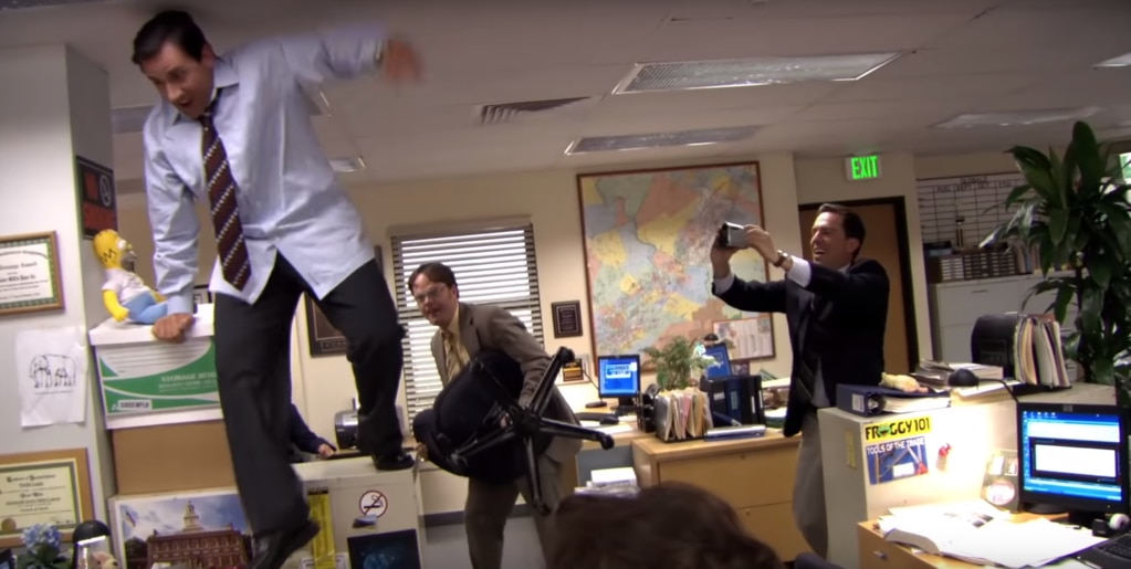 Michael Scott, The Office, Parkour