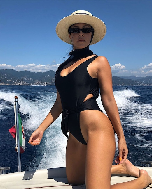 Kourtney Kardashian, Swimsuit, Stretch Marks, Instagram