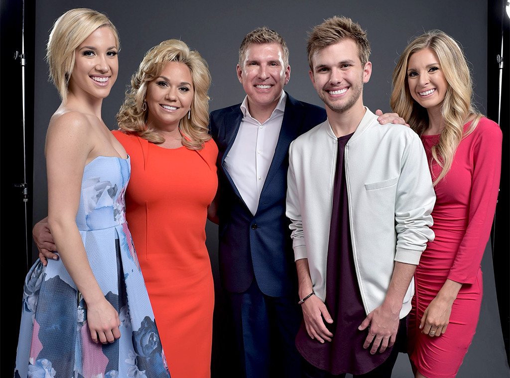 Savannah Chrisley, Julie Chrisley, Todd Chrisley, Chase Chrisley, and Lindsie Chrisley
