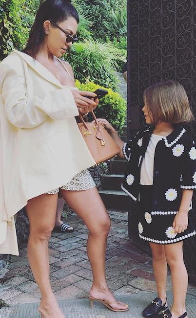 Kourtney Kardashian, Penelope Disick, Instagram