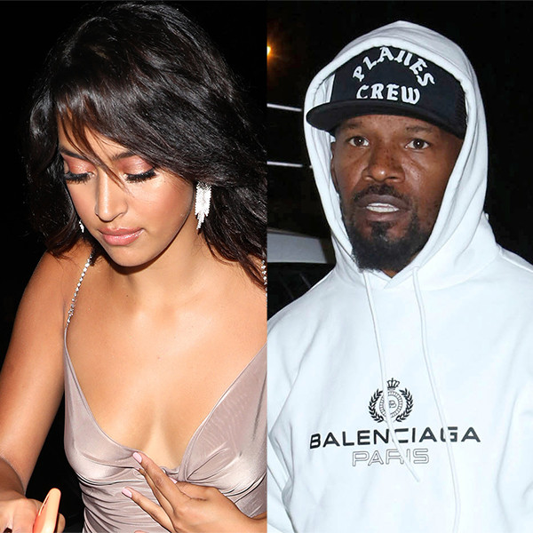Jamie Foxx and Singer Sela Vave Leave Nightclub Holding Hands