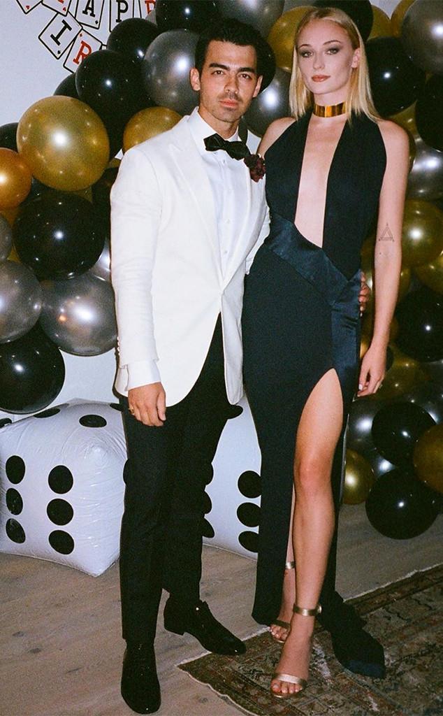 Joe Jonas, Sophie Turner, 30th, Birthday, Party, James Bond, Instagram