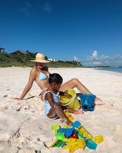Khloe Kardashian, True To Thompson's Beach, On Instagram