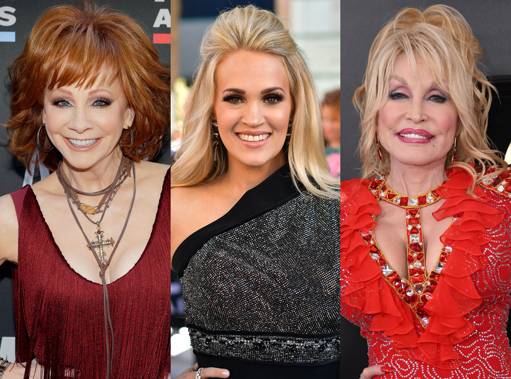 Reba, Carrie Underwood, Dolly Parton