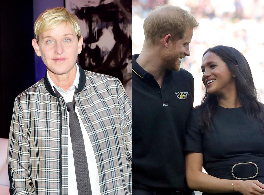 Ellen DeGeneres, Meghan Markle, Prince Harry