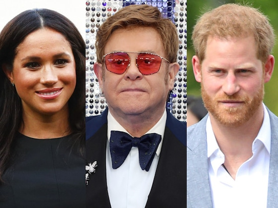 "Elton John Slams ""Malicious"" Rumors About Prince Harry and Meghan Markle's Nice Vacation"