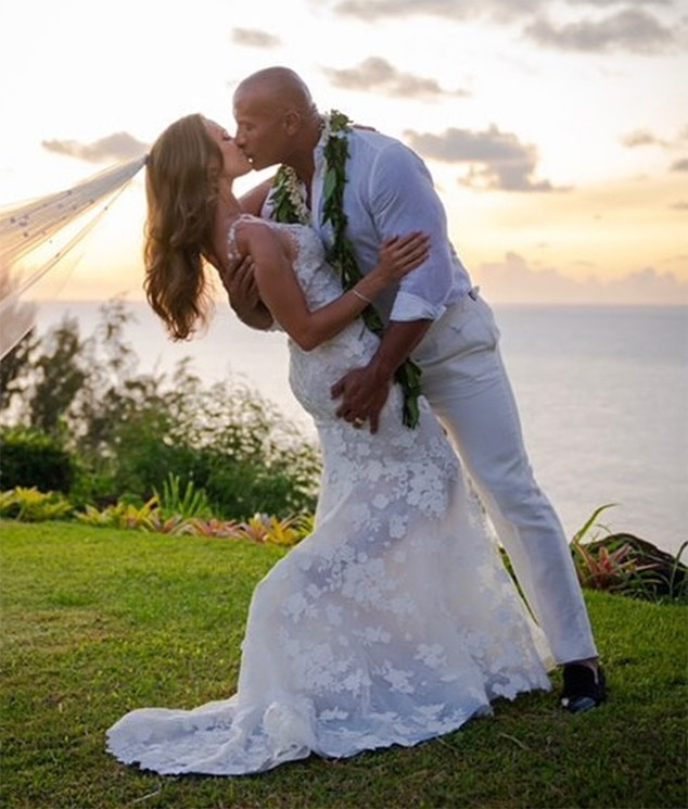 Dwayne Johnson, Lauren Hashian, Wedding