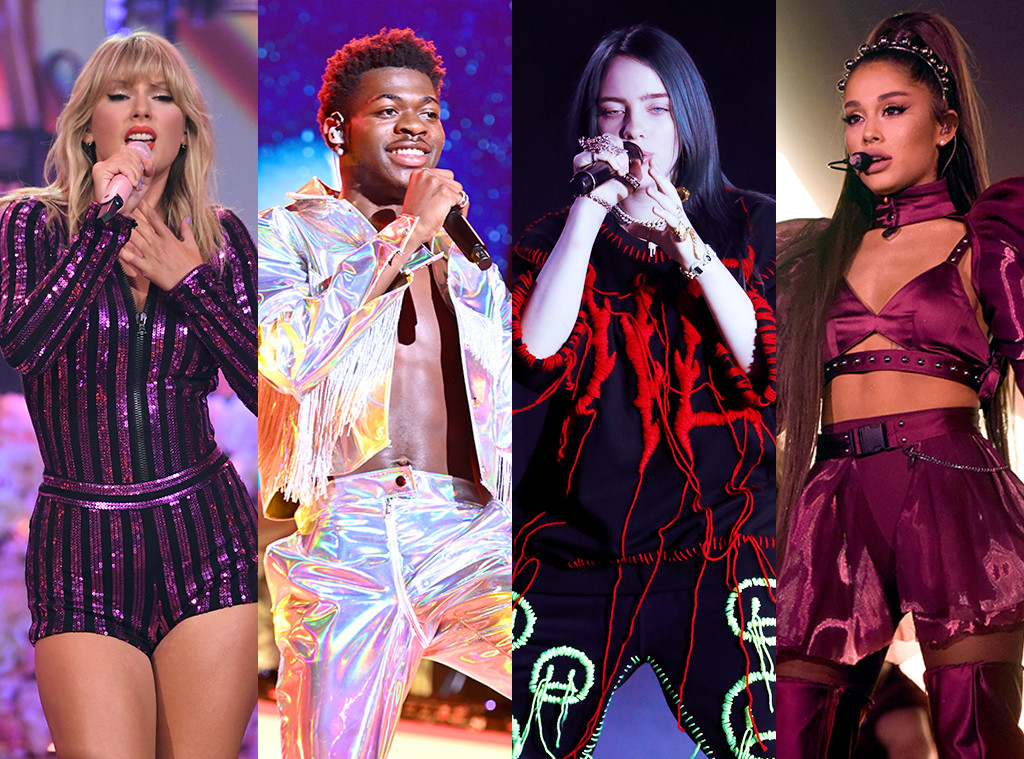 Taylor Swift, Ariana Grande, Billie Eilish, Lil Nas X