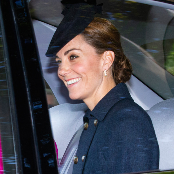 Kate Middleton Is All Smiles as She and Prince William Accompany Queen Elizabeth II to Church