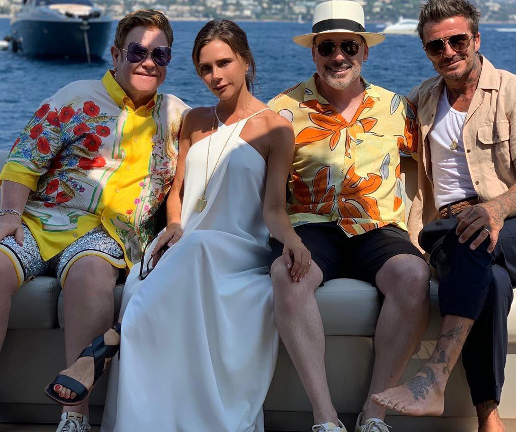 Elton John, Victoria Beckham, David Furnish, David Beckham