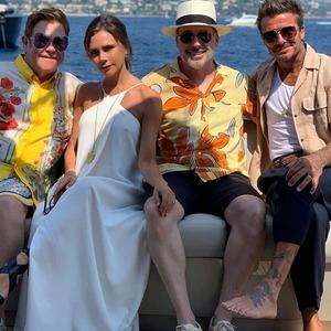 Elton John, Victoria Beckham, David Furnish, David Beckham