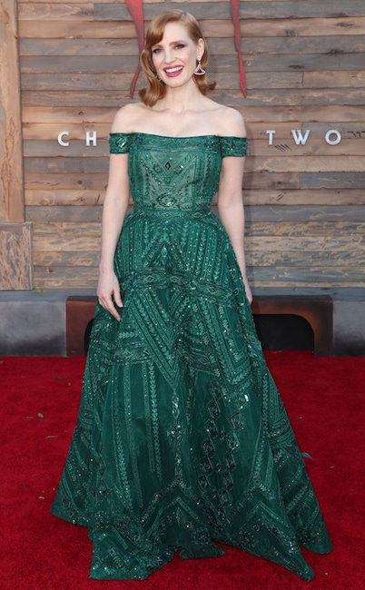 Jessica Chastain, It Chapter Two Premiere, Fashion Police Widget