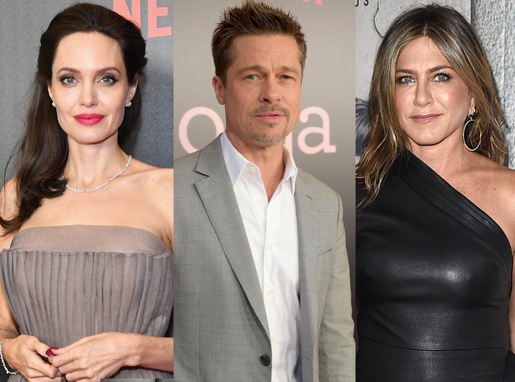 Brad Pitt, Jennifer Aniston, Angelina Jolie