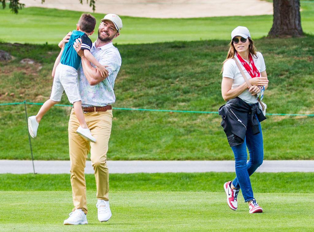 Justin Timberlake, Jessica Biel, Silas Timberlake