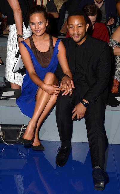 Chrissy Teigen, John Legend, Fashion Week Couples