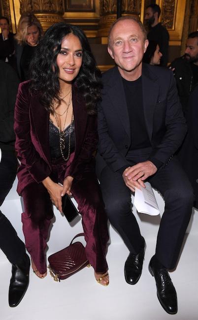 Salma Hayek, Francois-Henri Pinault, Fashion Week Couples