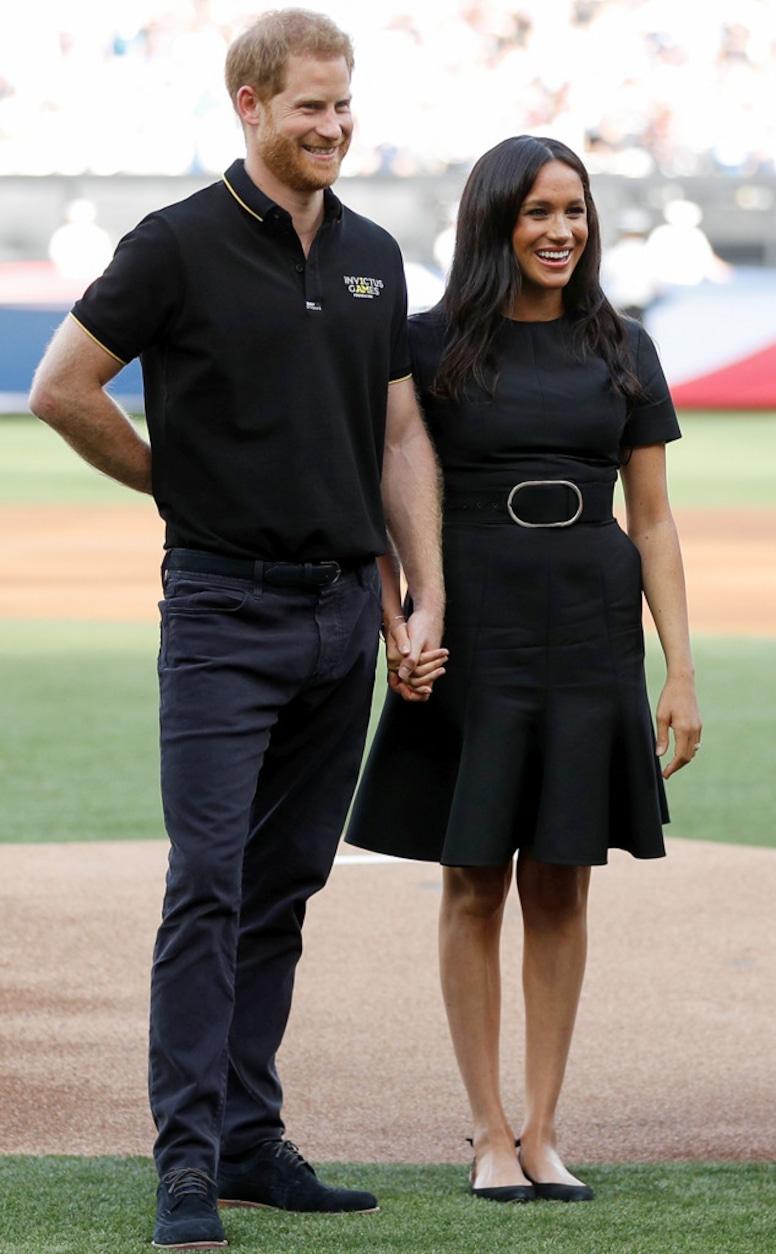 Meghan Markle, Prince Harry, Boston Red Sox vs New York Yankees Baseball Game