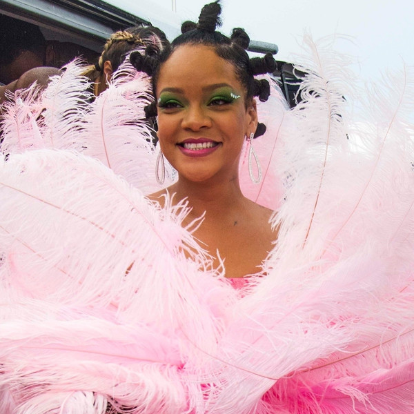 From a Pink Feathery Dress to Risqué Rhinestone Outfits, See All of Rihanna's Dazzling Crop Over Festival Looks