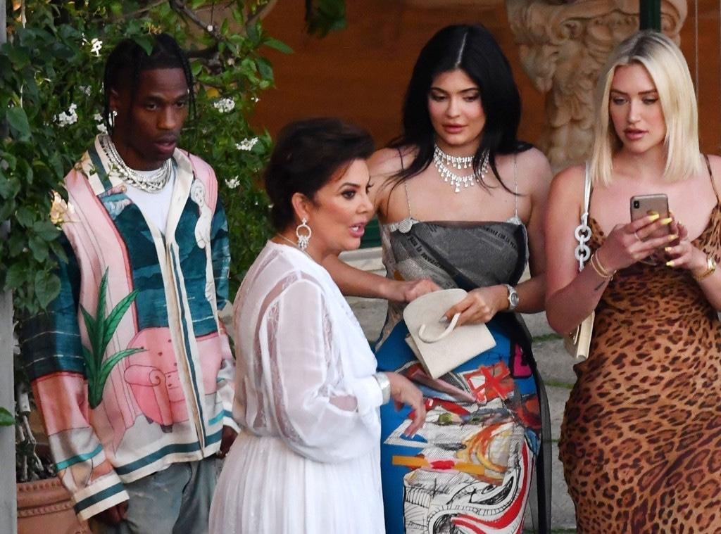 Kylie Jenner, Travis Scott, Kris Jenner, Positano