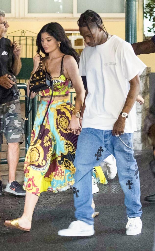 Kylie Jenner, Travis Scott, Capri, Italy