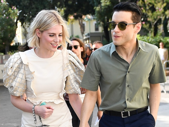 Lucy Boynton Is Not Cool With Boyfriend Rami Malek's Grabby Fans
