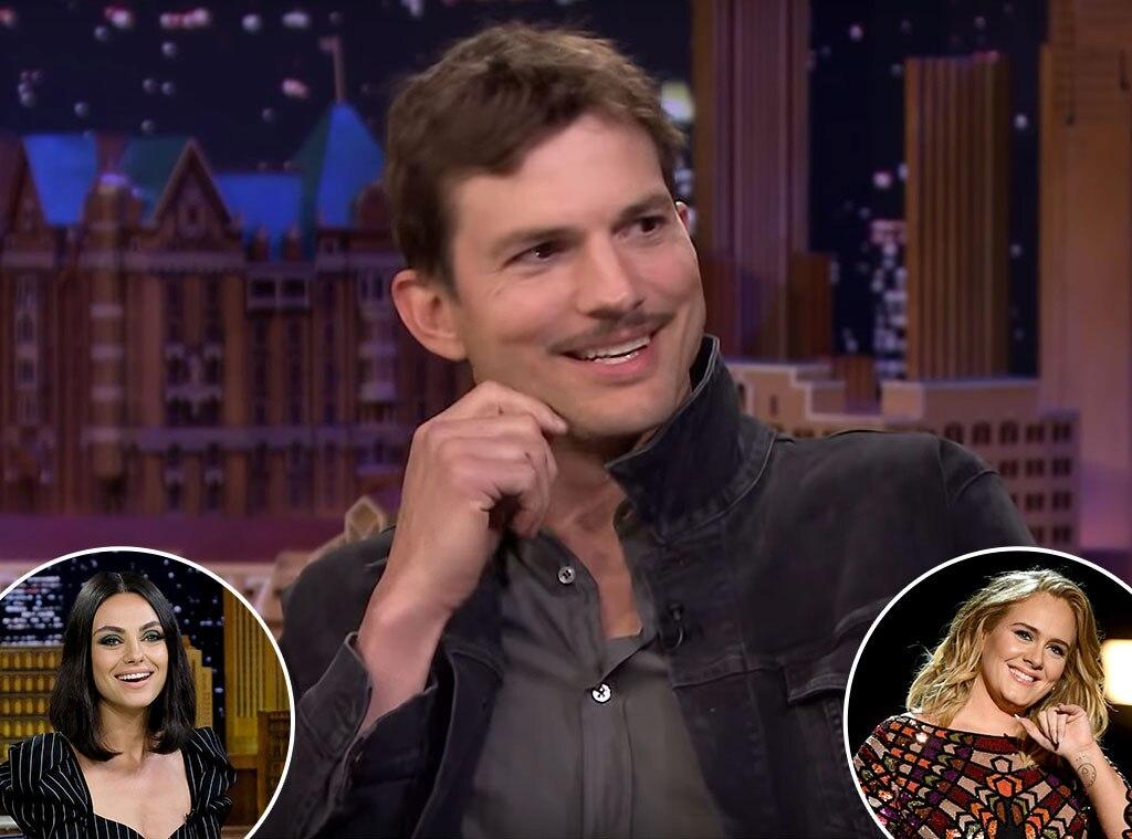 Ashton Kutcher blames Adele for his mustache