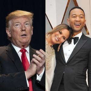 Donald Trump, John Legend, Chrissy Teigen