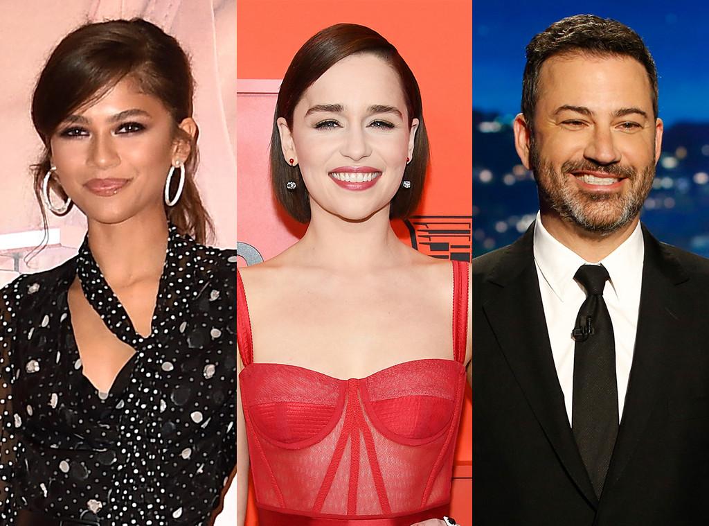Zendaya, Emilia Clarke, Jimmy Kimmel