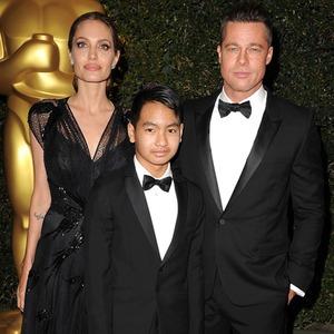 Angelina Jolie, Maddox Jolie-Pitt, Brad Pitt