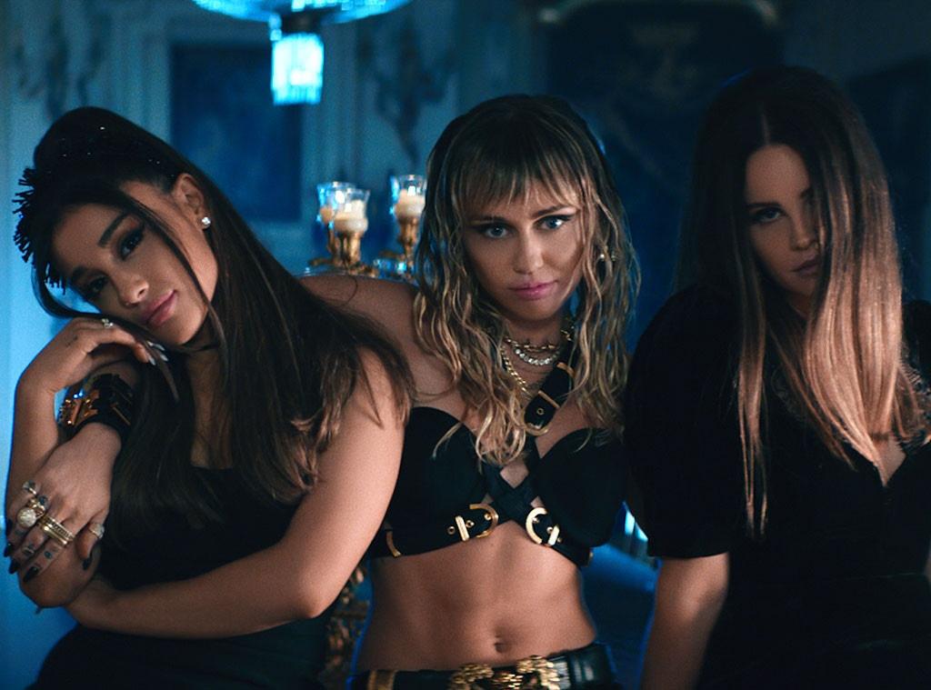 Ariana Grande, Miley Cyrus, Lana Del Rey, Don't Call Me Angel Music Video