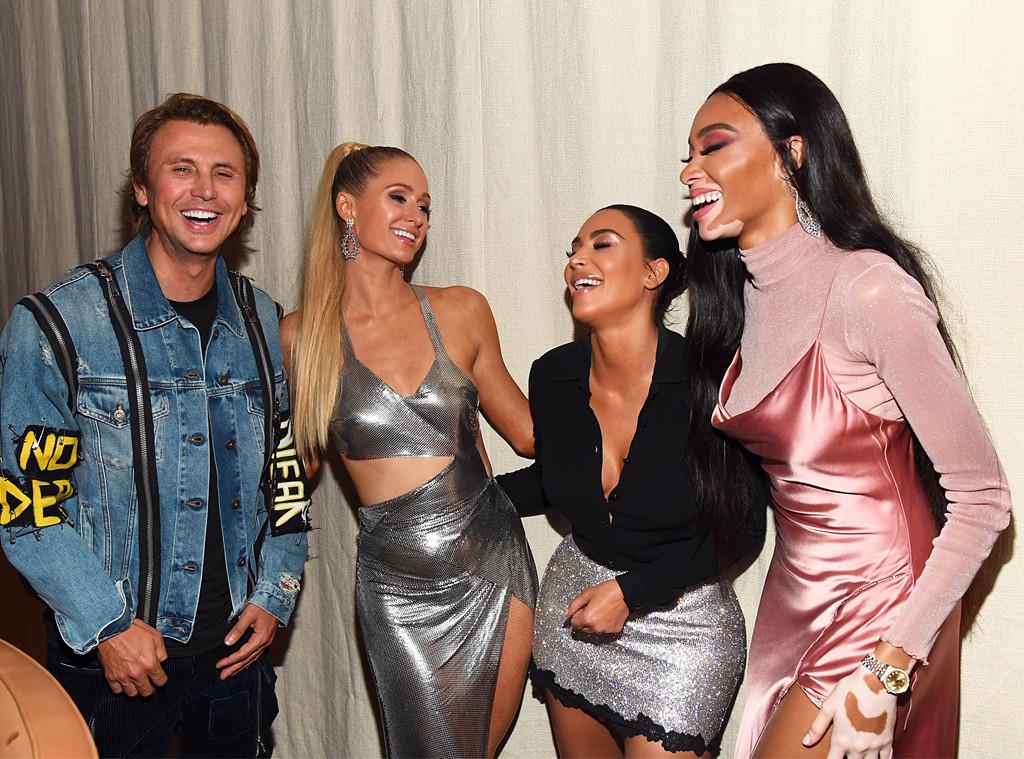 Jonathan Cheban, Paris Hilton, Kim Kardashian West, Winnie Harlow