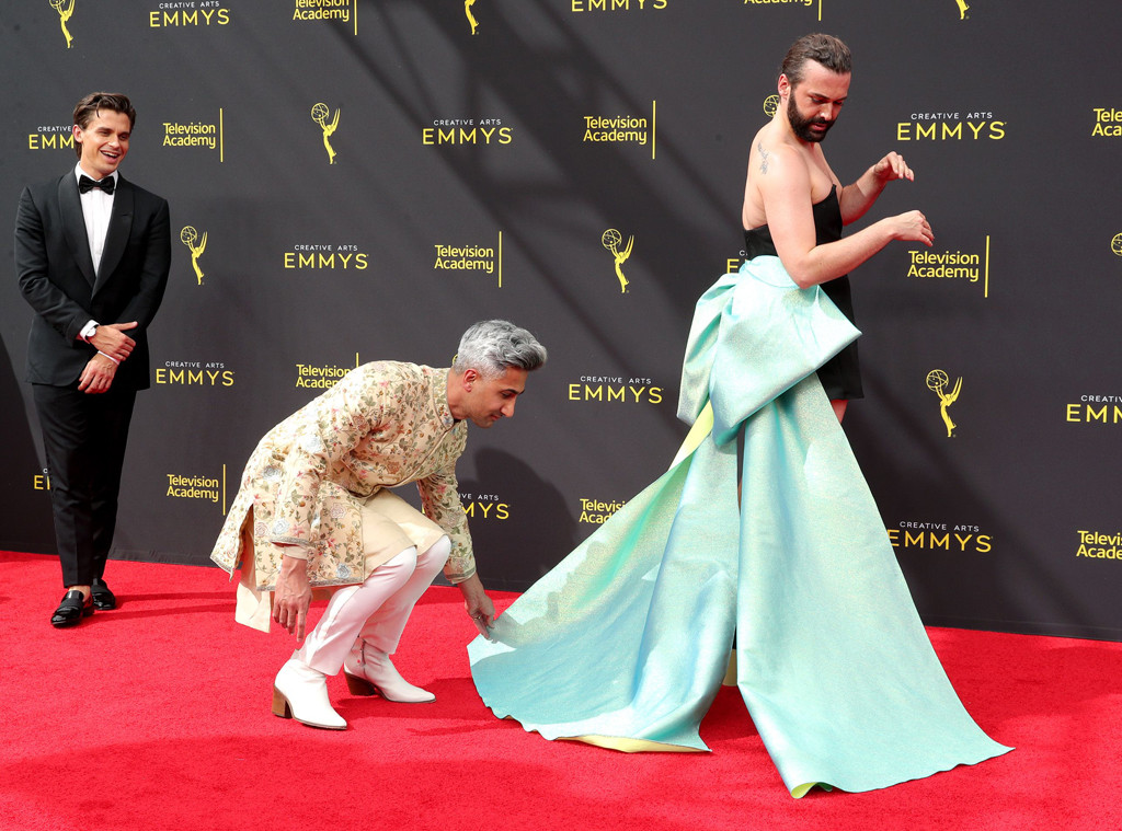 Antoni Porowski, Tan France, Jonathan Van Ness, Queer Eye, 2019 Creative Arts Emmy Awards