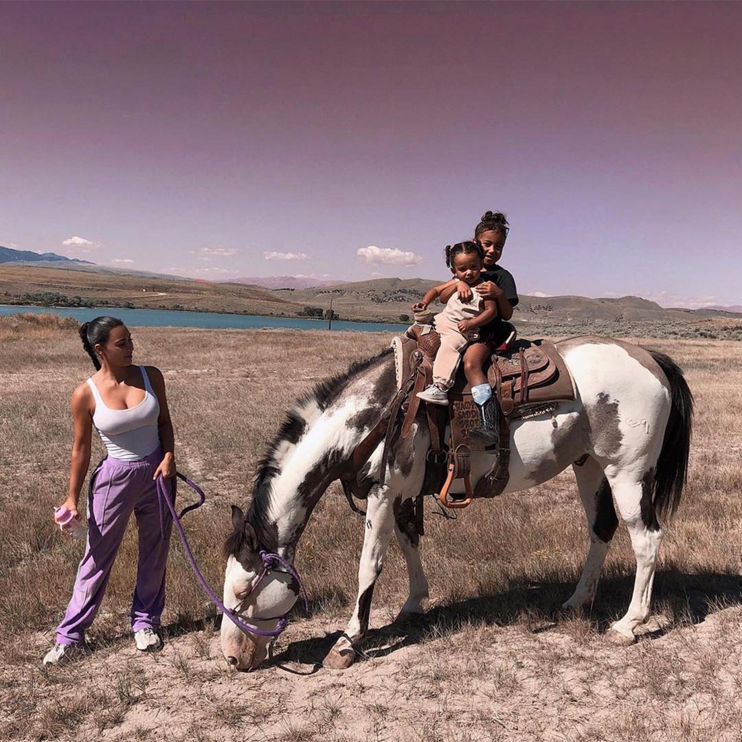 Kim Kardashian, North West, Chicago West, Wyoming