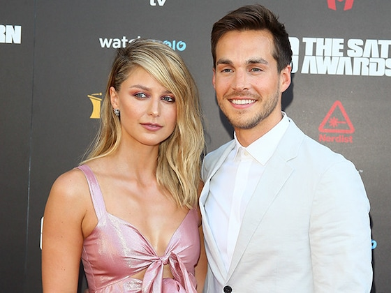 <i>Supergirl</i>'s Melissa Benoist and Chris Wood Make Red Carpet Debut as a Married Couple