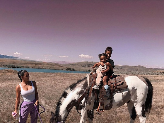 Kim Kardashian's Daughters North and Chicago Embrace the Cowgirl Life on Wyoming Trip