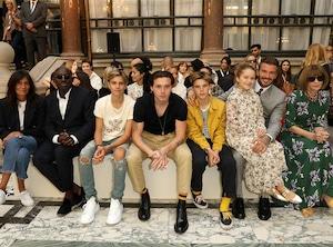 Romeo Beckham, Brooklyn Beckham, David Beckham, Harper Seven Beckham, Victoria Beckham, Anna Wintour, London Fashion Week