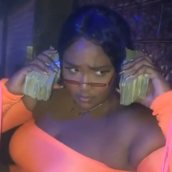Lizzo Is Feeling Good as Hell While Making It Rain at the Strip Club