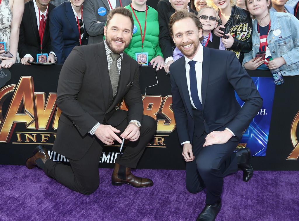 Chris Pratt, Tom Hiddleston