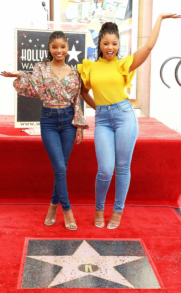Halle Bailey, Chloe Bailey, Old Navy Hollywood Walk of Fame Star