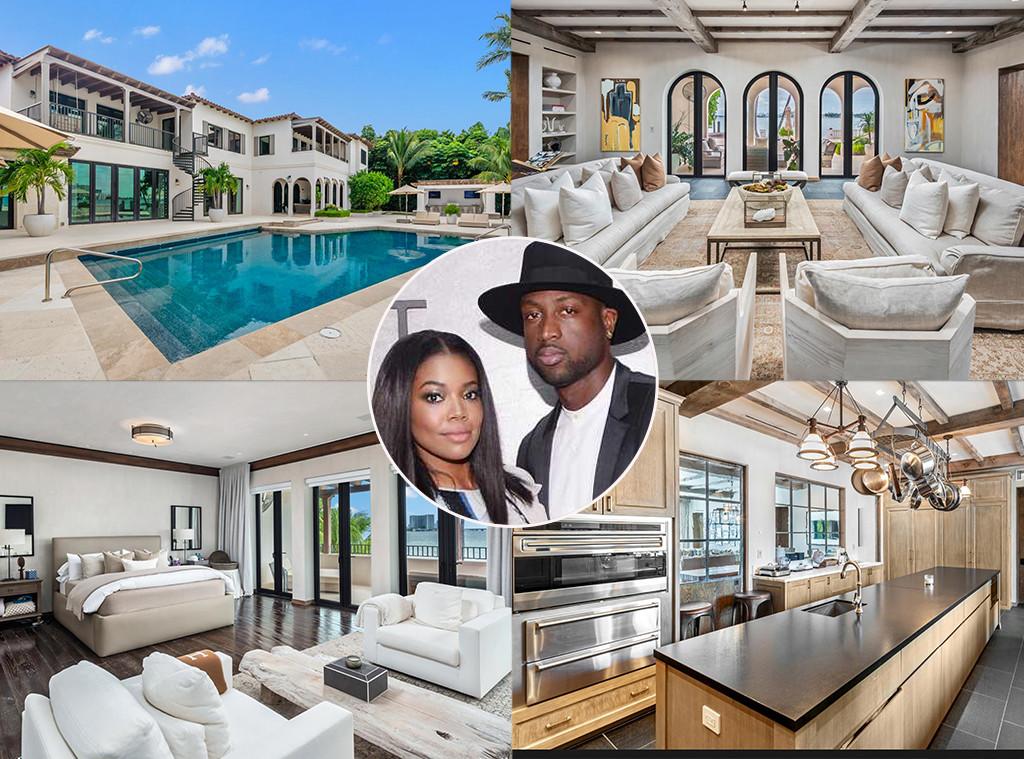 Dwyane Wade, Gabrielle Union, Real Estate, Biscayne Bay, Miami