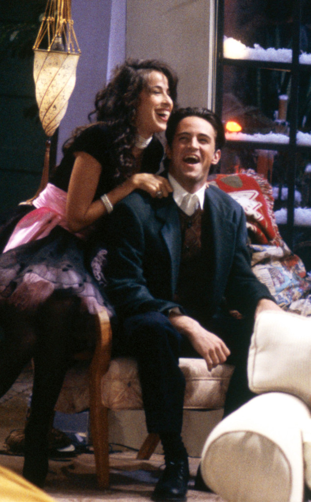 Maggie Wheeler, Janice Hosenstein, Matthew Perry, Chandler Bing, Friends