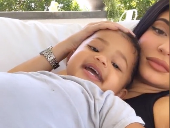 Kylie Jenner Cuddles With Stormi and Accidentally Gets Hit in the Face
