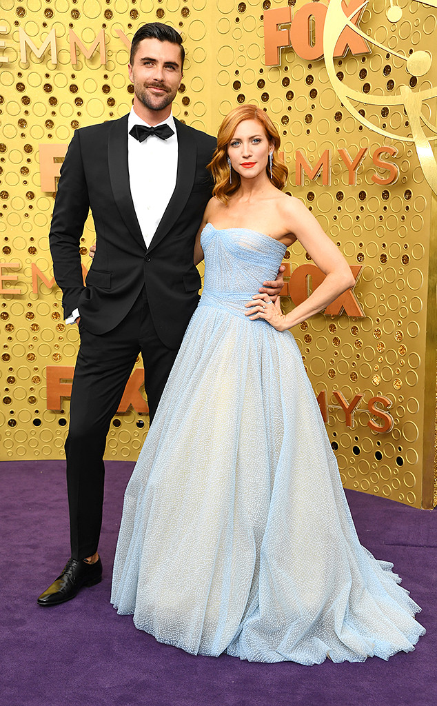 2019 Emmy Awards, Couples, Tyler Stanaland, Brittany Snow