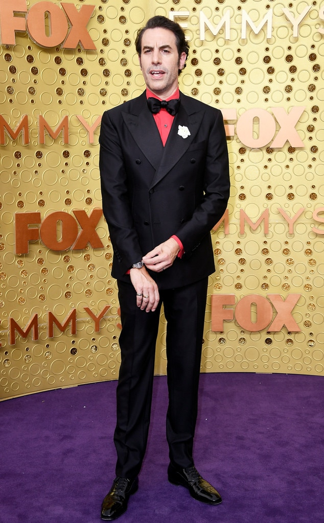 Sacha Baron Cohen, 2019 Emmy Awards, 2019 Emmys, Red Carpet Fashion