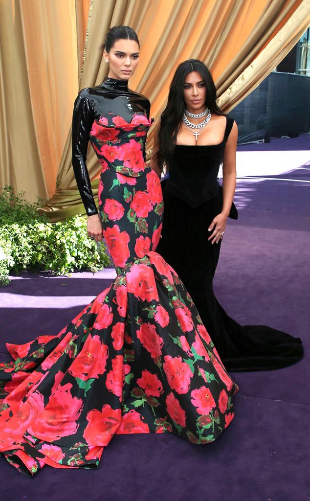 Kim Kardashian, Kendall Jenner, 2019 Emmys