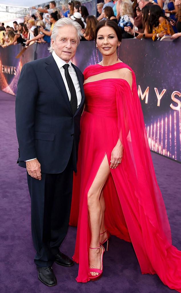 2019 Emmy Awards, Couples, Catherine Zeta-Jones, Michael Douglas