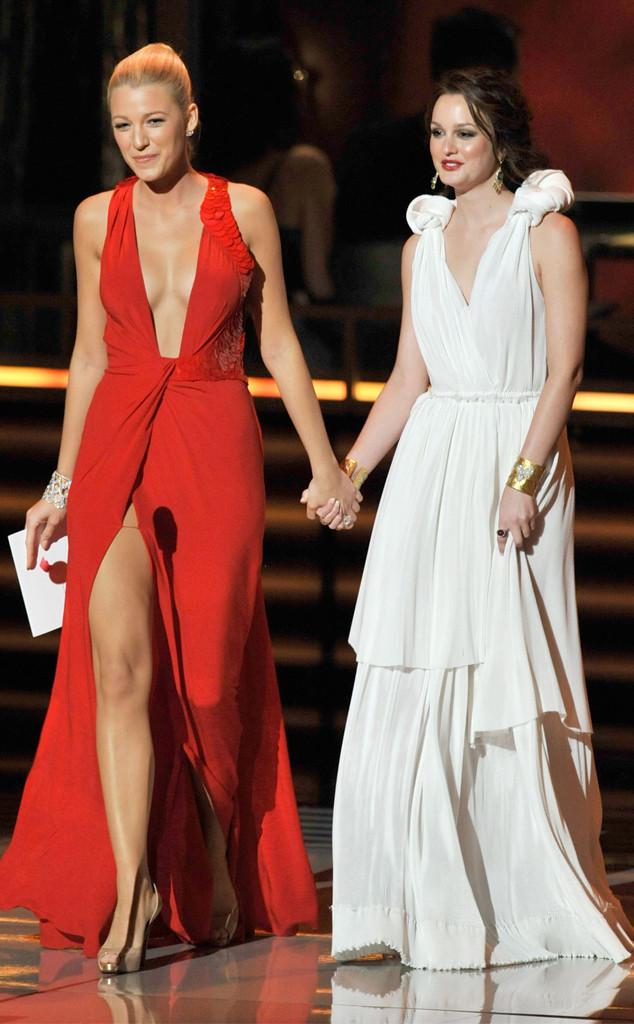 Leighton Meester, Blake Lively, 2009 Emmy Awards