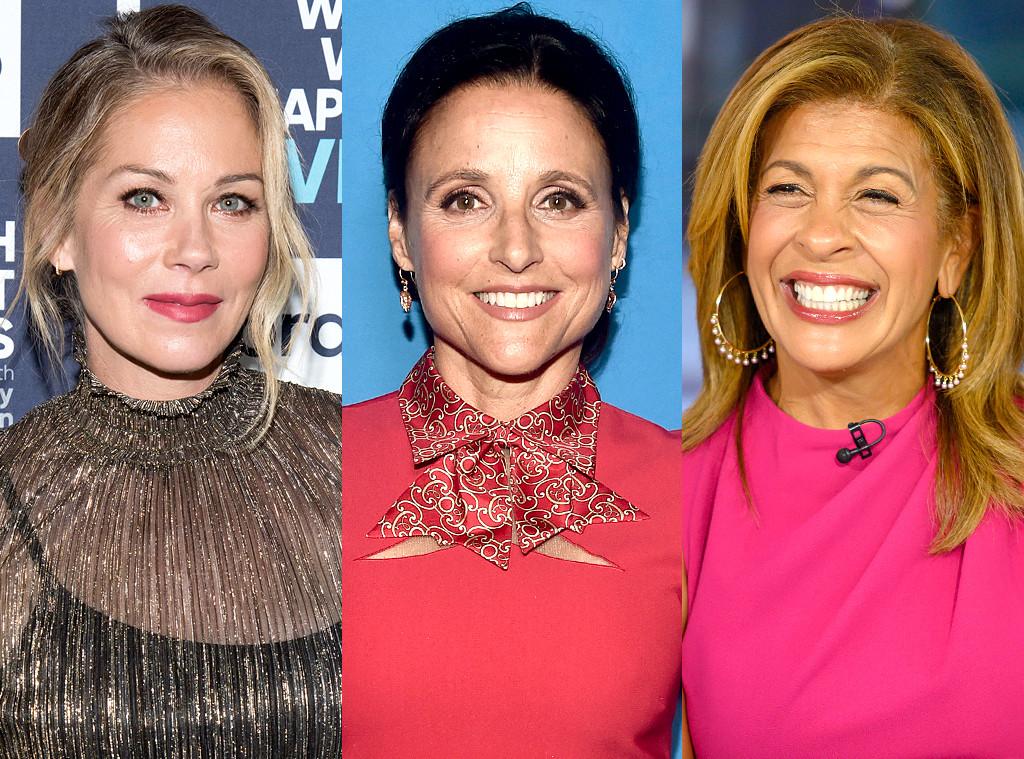 Breast Cancer Survivors, Hoda Kotb, Christina Applegate, Julia Louis-Dreyfus