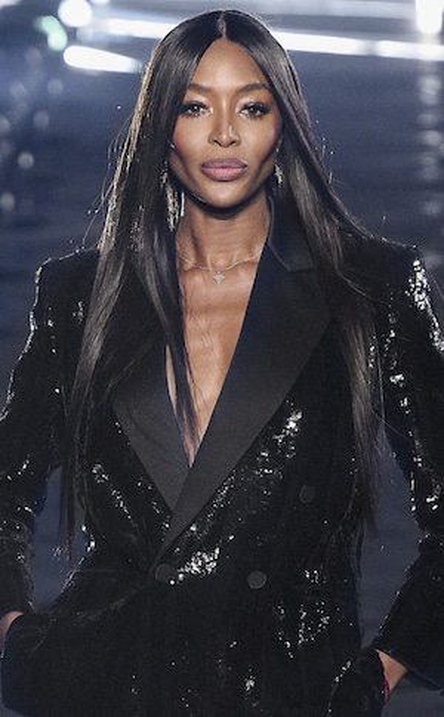 Naomi Campbell, Best Beauty Looks, 2019 Paris Fashion Week, Saint Laurent