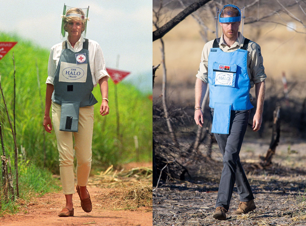 Princess Diana, Prince Harry, Angolan Minefield